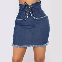 85c0956742a Denim Skirt Sexy Woman Dress NZ - Summer Slim Jeans Skirt Women High Waist  Tassel Edges