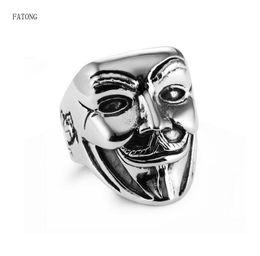 Discount new clown masks - Clown Mask Titanium Steel Ring High Quality Men's Russia Hot Sale 2018 New FATONG Brand t0928