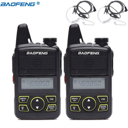 mini uhf radio NZ - 2pcs BAOFENG BF-T1 MINI Two Way Radio UHF 400-470mhz 20CH BFT1 Portable Walkie Talkie BF T1 Ham CB Radio+Acoustic Tube Headset