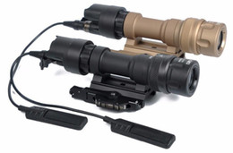 highest output flashlight NZ - QD M952V Dual Output LED light Flashlight for Gun Black Tan
