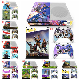 XboX one controller skins online shopping - 8 colors Fortnite Battle Royale Protective Decals For Microsoft xbox one S Console and Controllers Cover Skin Stickers novelty game LJJM259