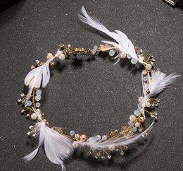$enCountryForm.capitalKeyWord Canada - Feather headdress with wedding wedding dress accessories jewelry hair Elf