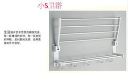 Hotel Towel Bars NZ - Wholesale-Foldable Alumimum Towel Bar Set Rack Tower Holder Hanger Bathroom Hotel Shelf