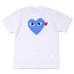 361c440209c8d Mens Designer T Shirts COMMES PLAY Japanisches Herz DES GARCONS T-Shirt aus  Männer Frauen Baumwolle Kurzarm Weiß CDG Tshirts Vetements Kleidung
