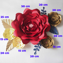 Wedding giant paper flowers online shopping wedding giant paper diy artificial flowers fleurs artificielles backdrop giant paper flowers 5pcs paper leave 5pcs wedding party decor baby shower mightylinksfo
