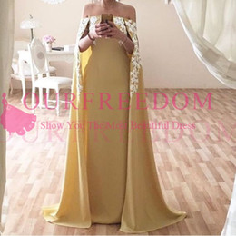 Empire Lace Applique Dress Australia - 2019 Elegant Strapless White Lace Appliques Evening Dresses With Wrap Light Yellow Chiffon Formal Occasion Dresses Prom Gowns Custom Made