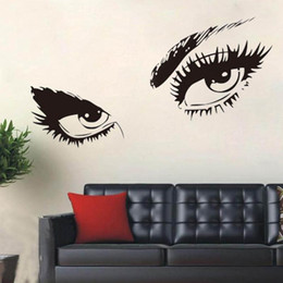 Large waLL decaLs eyes online shopping - Sexy Eyes Wall Sticker Home Decor Vinyl Art Home Black Decor Large Wall Decals Wall Stickers