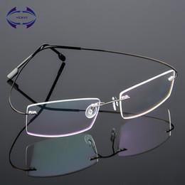 c98f072c0c wholesale rimless eyeglasses 2019 - VCKA Square Women Rimless Glasses Frame  Memory Alloy Eyeglasses Prescription Ultralight