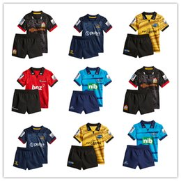 2018 New Zealand Club Crusaders bambini Super rugby maglie Highlanders Chiefs blues Hurricanes maglia kit bambino camicia in Offerta