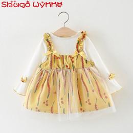 75848b208 8 Fotos Compra Online Blusa de niña bebé floral-Otoño bebé niñas blusa de  manga flare Tops