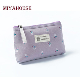 $enCountryForm.capitalKeyWord NZ - Miyahouse Hot Sale Canvas Floral Printed Make Up Female Small Zipper Cosmetic Bag Women Travel Toiletry Bag
