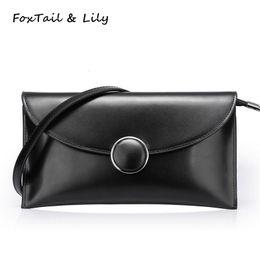 50e630c0128a FoxTail   Lily Ladies Envelope Clutch Bag Small Chain Shoulder Bag PU  Leather Fashion Women Messenger Bags Famous Brand Designer