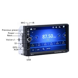 Discount car gps mp5 - 7018G 2 Din 7 inch HD Touch Screen Car Radio Multimedia MP5 Player GPS Navigation with Camera and Southeast Asia Maps Bl