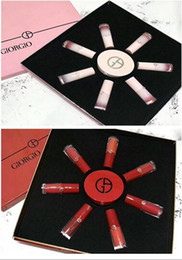 Discount cherry cushion - Famous brand GIORGIO Cherry Pink 7 colors lipgloss + Foundation Cushion 8 piece Kit & New Year Christmas Red Kit