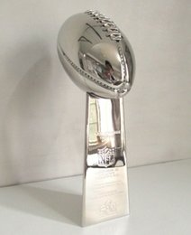 Discount trophy boxes - Free Shipping 1:1 Full Size 52CM Vince Lombardi Trophy Super Bowl Trophy 20.5 Inches High Weight 7 Pounds