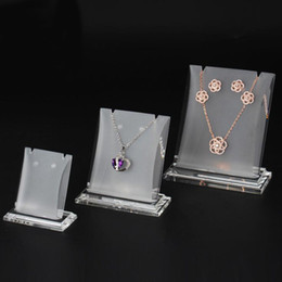 Booth Props Glasses Australia - Jewelry Necklace Earring Set Display Prop Stand Acrylic Boutique Shop Counter Showcase Fair Market Booth Jewellery Charms Pendant Holder