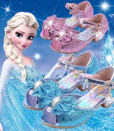 Girls sandals for weddinG online shopping - Children Princess Sandals Kids Girls Wedding Shoes High Heels Dress Shoes Party Shoes For Girls Colors Size