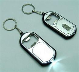 Beer opener keychain online shopping - Multi Function Beer Bottle Opener Keychain Metal Alloy With Light Keyring Pendant Key Buckle Creative Business Gift mh jj