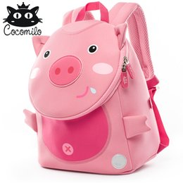 Cocomilo Cute Pig Panda Zoo Backpack Kids Small Bag For Boys Girls Cartoon  Anti Lost Backpacks Children School Bags 2-6 Years f384c3bc47702