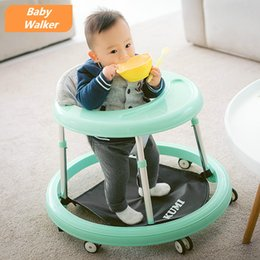 Wholesale Baby First Step Learning Multifunction Folding Hand Sit Chair Walker Baby Assistant with Dinner plate For M Unisex