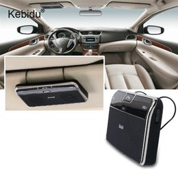 $enCountryForm.capitalKeyWord Canada - kebidu Wireless Bluetooth Handsfree Car Kit Bluetooth 4.0 EDR Speakerphone Sun Visor Clip In-Car Speaker For iPhone