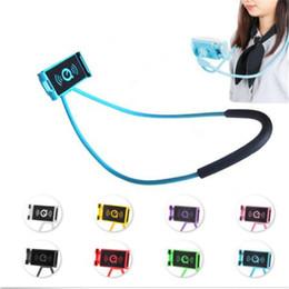 Tablet Lazy Stents Australia - Necklace Lazy Bracket Phone Holder Hang Neck Hanging Selfie Mobile Stand Tablet stents Holder For iPhone x 8 Samsung ipad