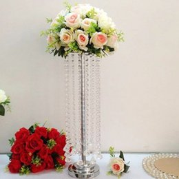 $enCountryForm.capitalKeyWord NZ - 10pcs lot New arrival 55 CM height Acrylic Crystal Wedding Table Centerpiece party event flower Vase road leads