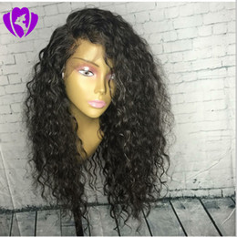 blonde african lace front wig 2019 - Hotselling side part loose Curly Synthetic lace front Wigs For Black Women Heat Resistant Female Wigs Natural Looking Af