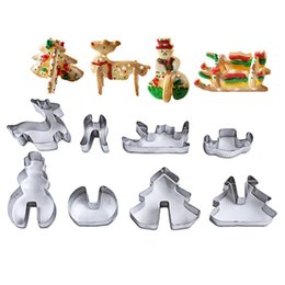 $enCountryForm.capitalKeyWord Australia - 8pcs set 3D Cookie Cutter Set Christmas Supplies Cake Baking Tools Stainless Steel Biscuit Mould Fondant Cookie Mold Cutters