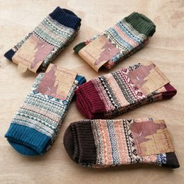 Wools socks online shopping - Peonfly Autumn Winter Man Wool Nation Male Happy Mens Novelty Long Socks Men Funny Cotton pairs