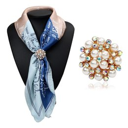 Discount scarf pendant jewelry 2018 jewelry pendant scarf necklace wholesale 2017 new trendy gold plated wedding brooch pins simulated pearl crystal pendants jewelry three buckle scarf clips for women gift scarf pendant aloadofball Image collections