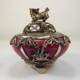 $enCountryForm.capitalKeyWord Australia - old handwork chinese jade incense burner armored dragon general kirin