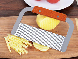 $enCountryForm.capitalKeyWord Australia - DHL Stainless Steel Vegetable Fruit Potato Soap Cutter Handle Wavy Slicer Chopper Kitchen Tool Home Supplies nt