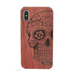Chinese  Genuine Wood Case For Iphone X 6 7 8 Hard Cover Carving Wooden Phone Shell For Apple Iphone 7 Plus Bamboo Housing Luxury S9 Retro good manufacturers