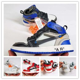 Signed Shoes Canada - Jointly Signed High OG 1s Kids Basketball shoes Chicago 1 Infant Boy Girl Sneaker Toddlers New Born Baby Trainers Children footwear