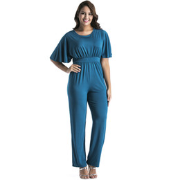 06c67698b2e4 Plus Size 3XL Jumpsuit Women Clothing 2018 Short Sleeve O Neck Casual Party  Fashion Loose Romper Long Pant Tunic Macacao Overall