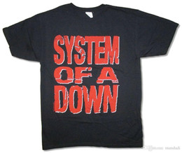 $enCountryForm.capitalKeyWord Canada - System of a Down Red Block Letters Logo Black T Shirt New Official SOAD