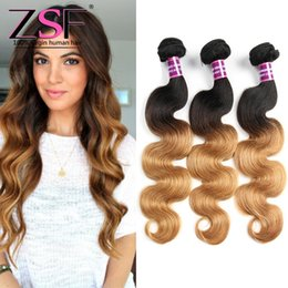 $enCountryForm.capitalKeyWord NZ - ZSF 8A Grade High Quality Indian Human Hair Extensions 1b 27 Ombre 3 Bundles Human Hair Bundles Body Wave Hair Weave