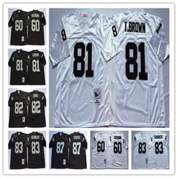 Top Selling Mens jerseys 82 AI Davis 87 Dave Casper 60 Otis Sistrunk 83 Ted  Hendricks Regression Black White Men Team jerseys c1348690a