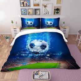bedding for queen size beds 2018 - BEST.WENSD World football bedding for queen size bed 100% bamoo fiber Deluxe bedding 3pcs Super soft modern decor beds-n