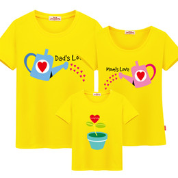d9a34059da04 Mom and Daughter Matching Clothes Family Matching Clothes Cotton Family  Matching Outfits Father Mother Son Family Look T-shirt