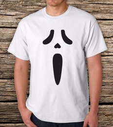 Hot Graphic Tees NZ - Scream Face-Men's Graphic T-Shirt Summer Style New Men's Hot Fashion Cotton Tees Round Neck Tshirt