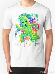 2026a8f1c 2018 Short Sleeve Cotton T Shirts Man Clothing Cute Cactuar Watercolor  Final Fantasy Mens T Shirt Size S To 3XL