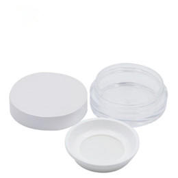 $enCountryForm.capitalKeyWord UK - Plastic Mineral Powder Jars 5ml Clear Jars With White Lid Sifter Powder Round Containers fast shipping F623