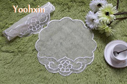 $enCountryForm.capitalKeyWord NZ - Luxury mesh embroidery lace table Place mat cloth pad dining doily pot cup mug holder drink coaster round glass placemat kitchen