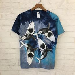 e6a76c9d655f Tie dye shirT men online shopping - Best Tie dyed Sharks Printed Women Men T  shirts
