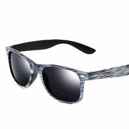 03578a055ab 2018 New Fashion Wood grain Sunglasses Women Colorful lens Anti-radiation  Anti-UV400 outdoor Eyewear Men Reflective Sun Glasses