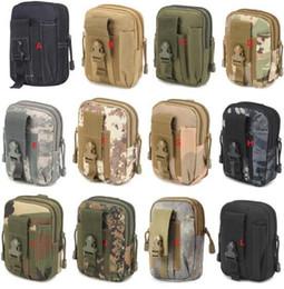 Sacos de cosméticos 5 'Universal Ao Ar Livre Tactical Coldre Militar Molle Hip Belt Cinto Bolsa Carteira Bolsa Bolsa de Telefone Caso com Zíper para o iphone