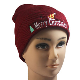 $enCountryForm.capitalKeyWord NZ - Unisex Merry Christmas Knitted Hat Lovely Cuffed Tree Santa Hat Snowflake Embroidered Beanies Cap Winter Warm Casual Gift W15