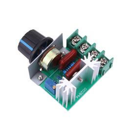 China 2000 W Motor Controller AC 50-220V 25A SCR High-power Electronic Voltage Regulator Module Motor Speed Controller cheap ac speed controllers suppliers